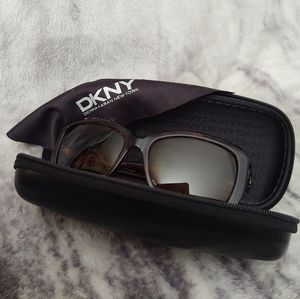 DKNY Brown Rx Framed Glasses with Case & Cloth